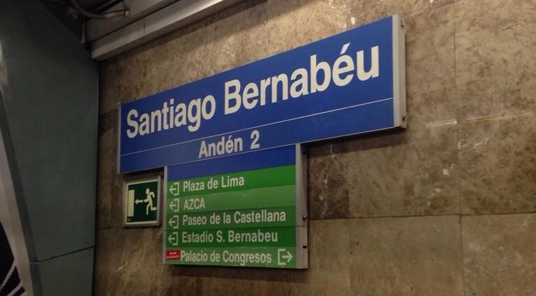 Estação Santiago Bernabéu, do metrô de Madrid.