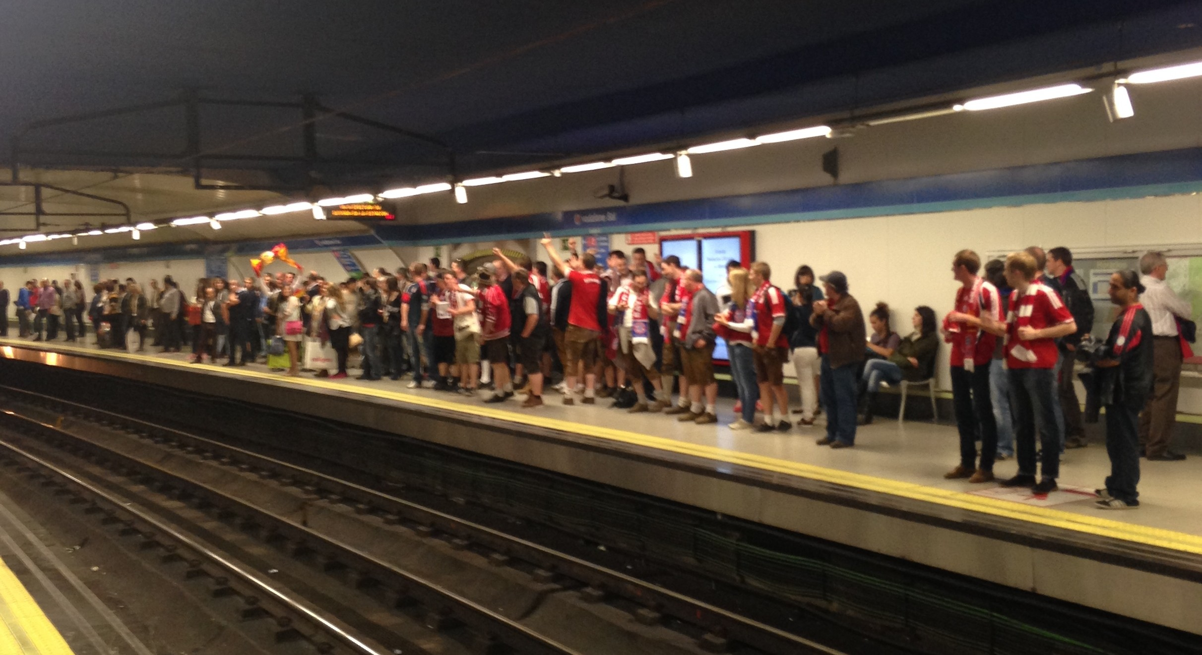 Alemães no metrô